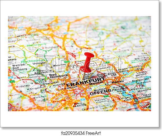 Map Of Germany Frankfurt.Free Art Print Of Frankfurt Germany Map