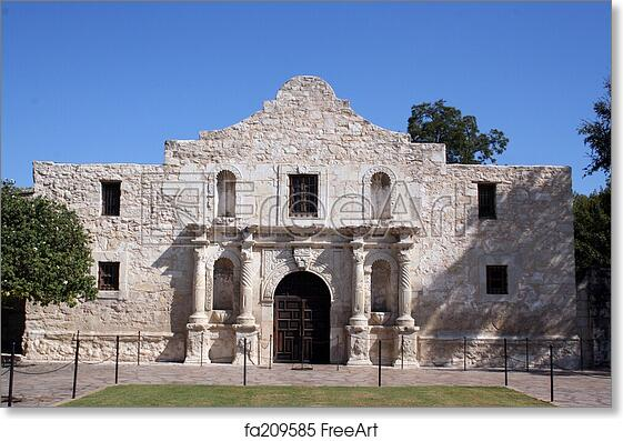 Alamo In San Antonio Art Print Home Decor Wall Art Poster G