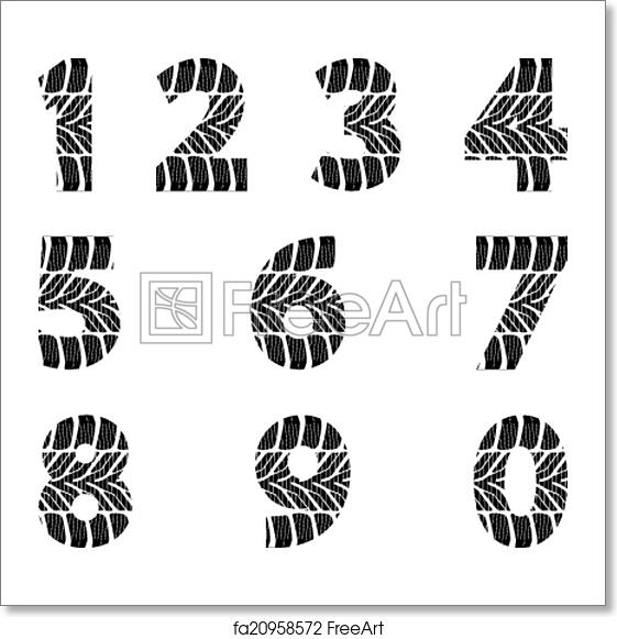 Free art print of Tire track. Font with tire track