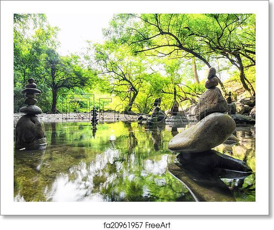 Free Art Print Of Zen Meditation Landscape. Calm And