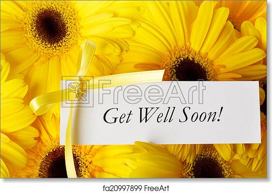 Free art print of get well soon card with yellow gerberas get well free art print of get well soon card with yellow gerberas m4hsunfo