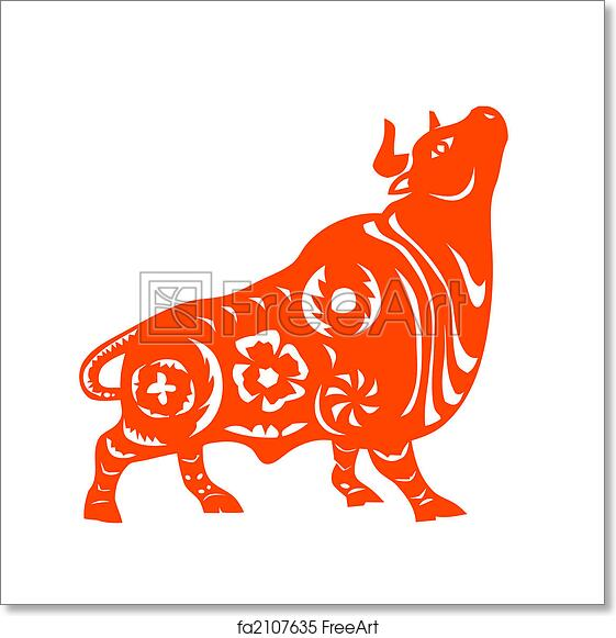 Free Art Print Of Chinese Zodiac Of Ox Traditional Chinese Culture