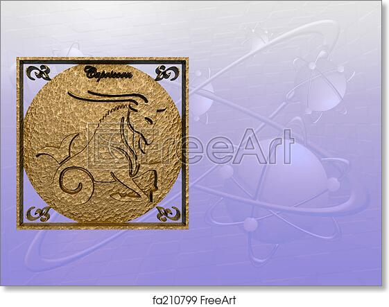 Free art print of Horoscope, Capricorn