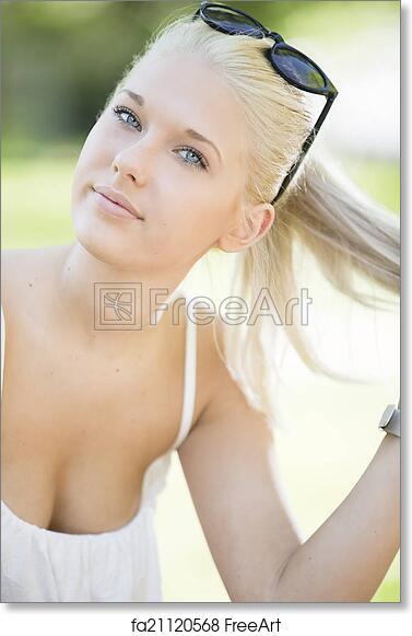 Title blonde teen outdoor