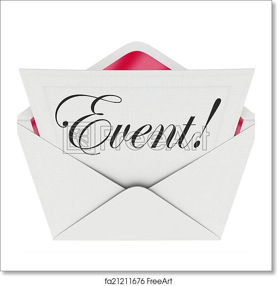 free art print of event word invitation envelope special access vip