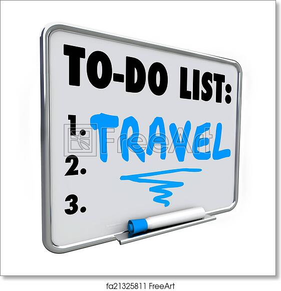 free art print of travel to do list dream vacation wish priorities