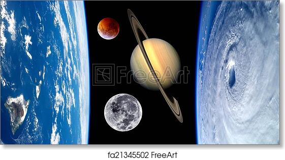 free art print of earth fantasy planets universe unusual fantasy