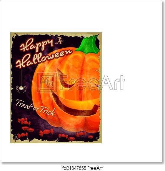 free art print of vintage halloween poster set design vintage