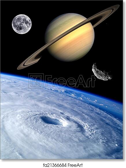free art print of earth fantasy planets universe unusual asteroid