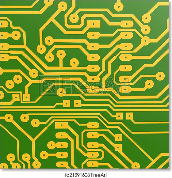 Free art print of PCB layout | FreeArt | fa21391608