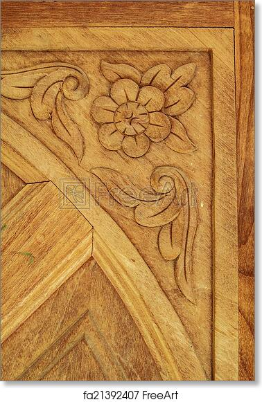 Free Art Print Of Wood Carving Patterns Carved Wooden Doors Hand