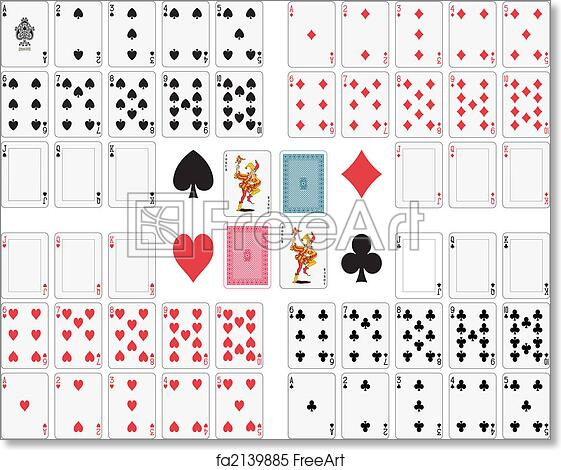 picture regarding Deck of Cards Printable titled Absolutely free artwork print of Enjoying Playing cards