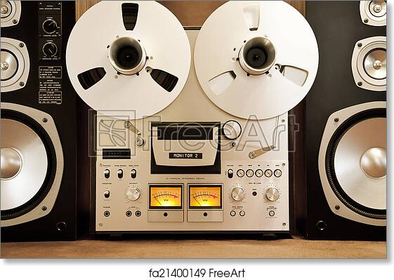 be0b802e750b Free art print of Analog Stereo Open Reel Tape Deck Recorder Vintage. Analog  Stereo Open Reel Tape Deck Recorder Vintage Closeup | FreeArt | fa21400149
