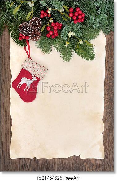 photograph regarding Printable Christmas Stocking titled No cost artwork print of Xmas Stocking