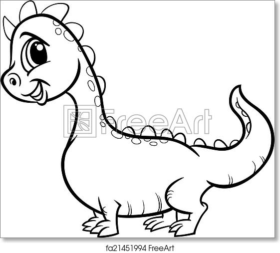 - Free Art Print Of Cartoon Dragon Character Coloring Page. Black And White  Cartoon Illustration Of Cute Dragon Fantasy Character For Coloring Book  FreeArt Fa21451994