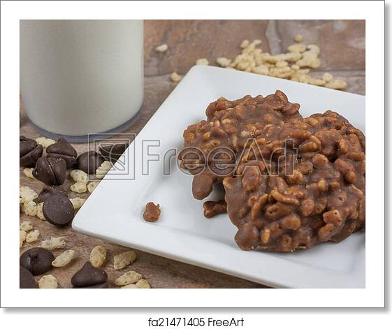 Free art print of Rice Crispy No Bake Cookies