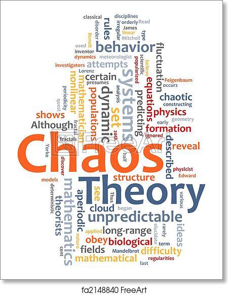 Free Art Print Of Chaos Theory Word Cloud