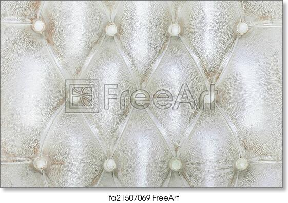 Free Art Print Of Texture Of White Vintage Sofa Freeart Fa21507069