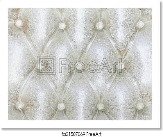 Free Art Print Of Texture Of White Vintage Sofa Freeart Fa21507069