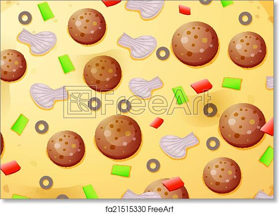 graphic about Printable Pizza Toppings identified as Cost-free artwork print of Pizza toppings