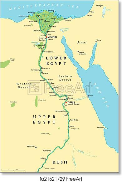 graphic relating to Ancient Egypt Map Printable named Totally free artwork print of Historic Egypt Map