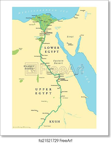 Free art print of Ancient Egypt Map. Historical map of Ancient Egypt Printable Map Of Ancient Egypt on