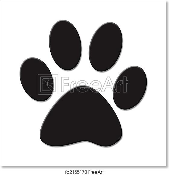 photograph regarding Free Printable Paw Prints titled No cost artwork print of Paw print