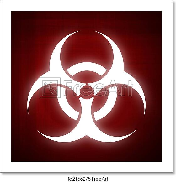 Free Art Print Of Biohazard Symbol On Red Background Computer Made