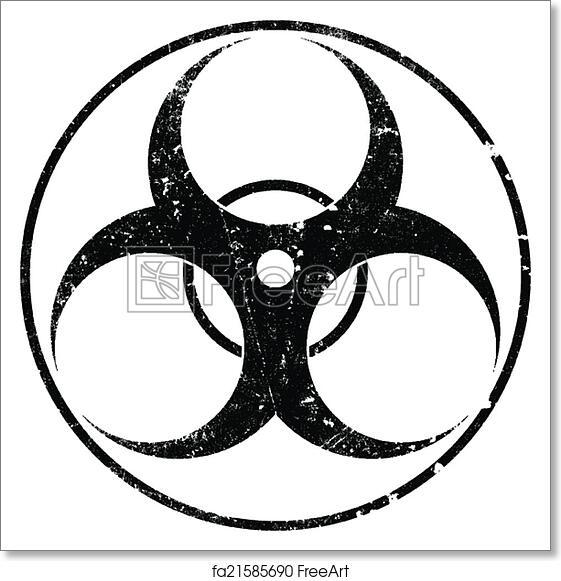 Free Art Print Of Biohazard Grunge Symbol Biohazard Grunge Symbol