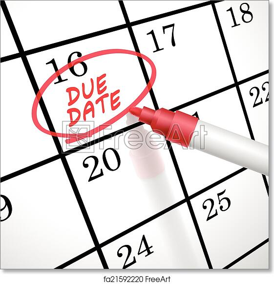 image about Free Printable Due Date Calendar named Free of charge artwork print of Thanks day phrases circle marked upon a calendar