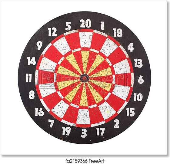 photo relating to Printable Dart Board referred to as Totally free artwork print of Dart Board