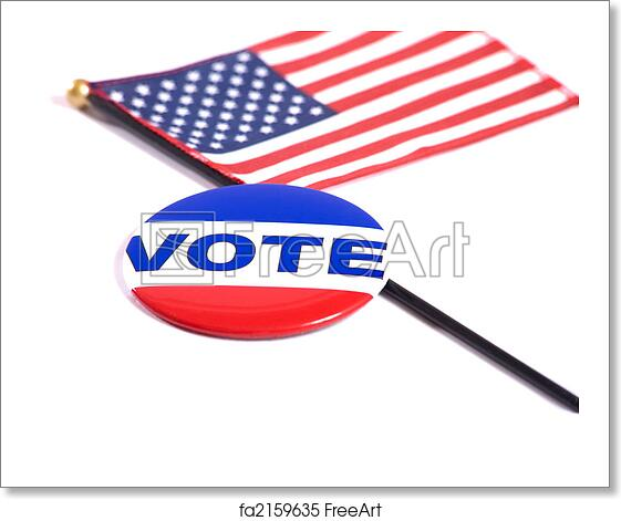 Free Art Print Of Election Symbols A Vote Button Lying On Top Of
