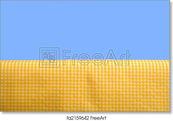 Free Art Print Of Yellow Gingham Tablecloth
