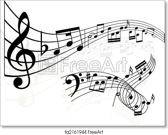 Free Art Print Of Music Notes Background Music Notes Backgrounds