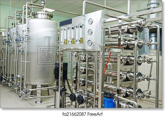 Free Art Print Of Pharmaceutical Water Treatment System