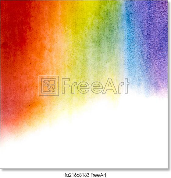 free art print of watercolor rainbow background painted watercolor