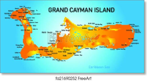 photograph about Printable Map of Grand Cayman identify Free of charge artwork print of Grand Cayman