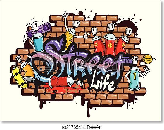 Free art print of Graffiti word characters composition