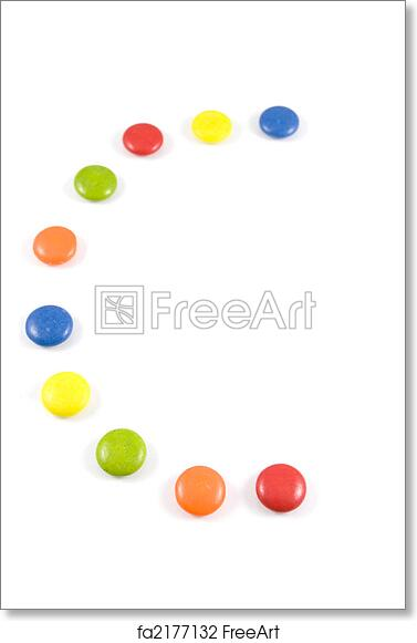 Free Art Print Of Letter C Made Colored Smarties