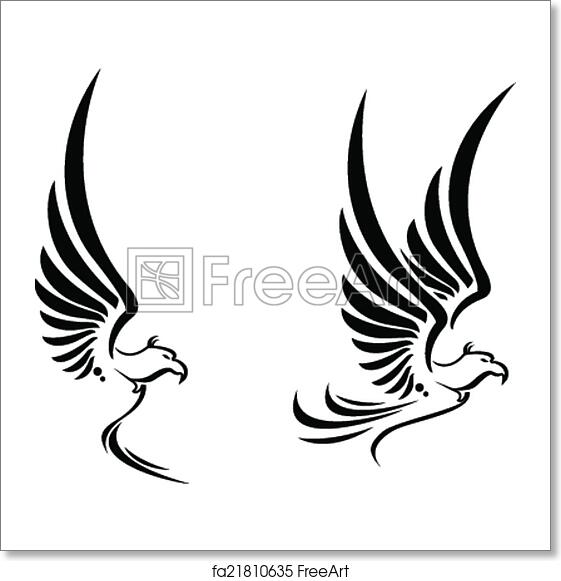 Free Art Print Of Flying Eagle Tattoo For You Design