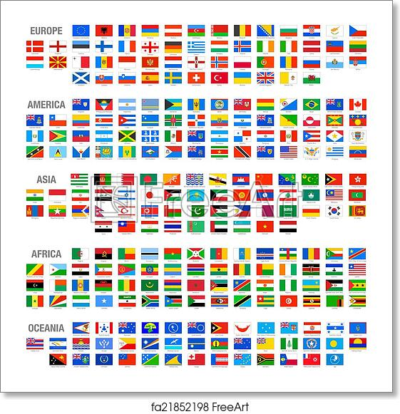 Free art print of Vector World Country Flags set