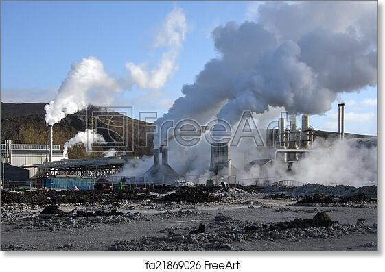 Free art print of Svartsengi Geothermal Power Station - Iceland