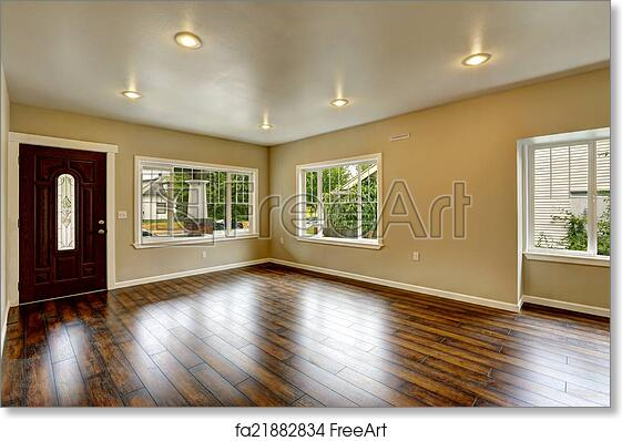 Free Art Print Of Empty House Interior Spacious Living Room With New Hardwood Flo
