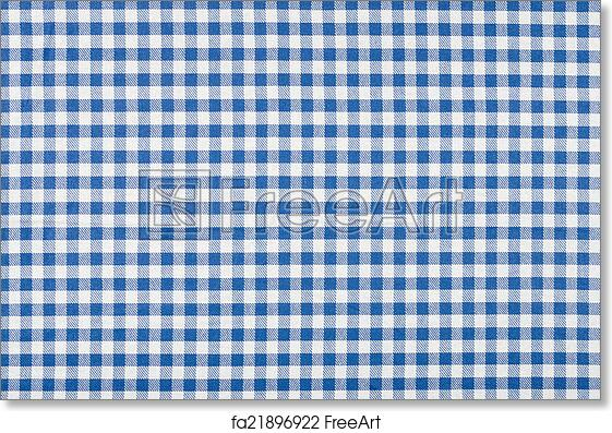 Delicieux Free Art Print Of Blue And White Checkered Tablecloth