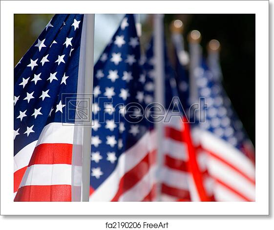 Free Art Print Of American Flag Display In Honor Of Veterans Day