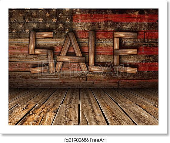 Free art print of Wooden Sale on Wood Wall