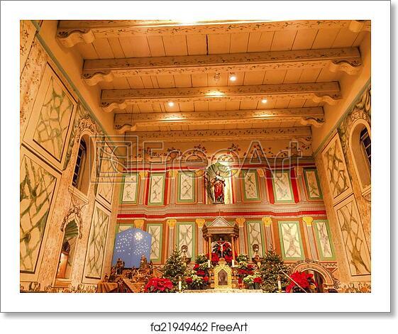 Solvang Ca Christmas.Free Art Print Of Old Mission Santa Ines Solvang California Basilica Altar Cross A