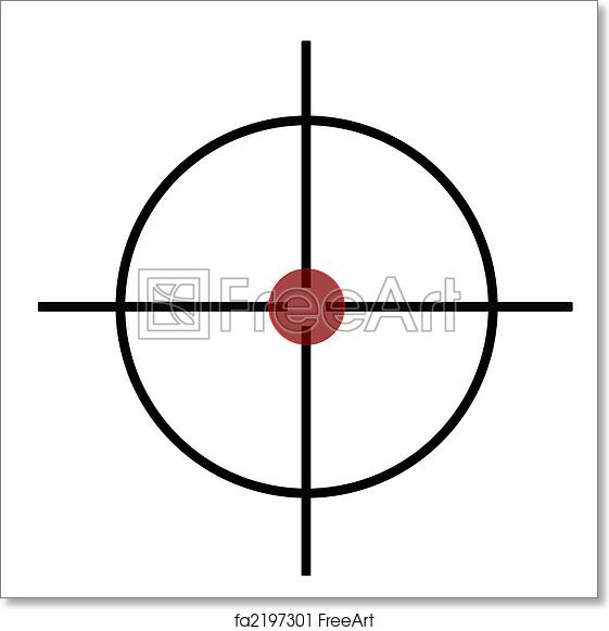 picture relating to Printable Sniper Targets referred to as Cost-free artwork print of Sniper rifle cross hairs