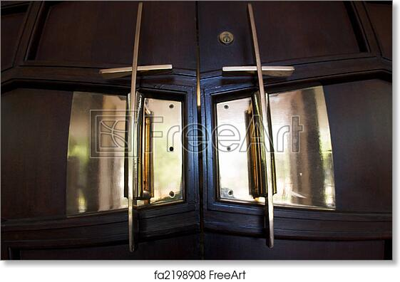 Free art print of Cross Sanctuary Doors & Free art print of Cross Sanctuary Doors. Cross door handles to a ...