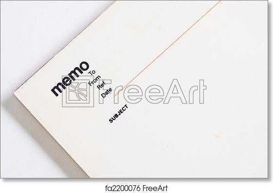 free art print of blank memo pad notebook blank memo pad notebook